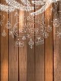 Natürliche Dekoration für schönes Feiertagsdesign Stockbild