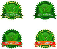 Natürliche Eco Produktkennsätze Stockfotos
