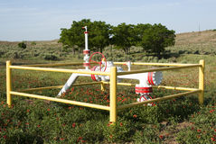 Natürliche Erdgasleitung Lizenzfreie Stockfotografie