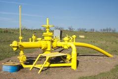 Natürliche Erdgasleitung Stockfoto