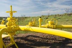 Natürliche Erdgasleitung Stockbild