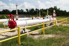 Natürliche Erdgasleitung Stockbilder