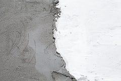Natürliche Farbe des Gipses auf Betonmauer Stockfoto