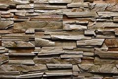 Natürliche Farbe des grünen brownwall Beschaffenheits-Steinhintergrundes Stockbilder