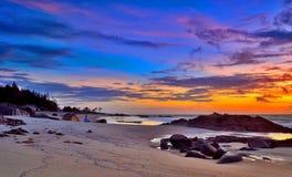 Natürliche Farben des Sonnenaufgangs Stockbilder