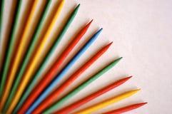 Natürliche farbige Bleistifte Stockbild