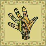 Natürliche farbige, ethnische Stammes- Palme stock abbildung