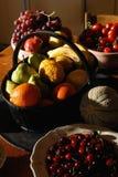 Natürliche Früchte Stockfotos