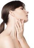 Natürliche Hautpflege der Schönheitsfrau Lizenzfreies Stockfoto