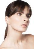Natürliche Hautpflege der Schönheitsfrau Stockfotografie