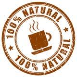 Natürliche Kaffeeikone Stockbild