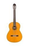 Natürliche klassische Akustikgitarre lokalisiert auf einem weißen Hintergrund Lizenzfreies Stockfoto