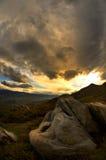 Natürliche Landschaft vor einem Sturm Stockbilder
