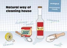 Natürliche Methode der Reinigung Lizenzfreies Stockfoto