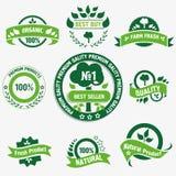 Natürliche Nahrungsmittelkennsätze Lizenzfreie Stockfotografie