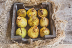 9 natürliche organische Birnen Stockfotos