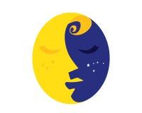 Natürliche organische Schönheits-weibliches Gesichts-Logo Lizenzfreie Stockbilder