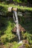 Natürliche Quelle des Süßwassers Stockbild