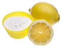 Natürliche Reinigung mit Zitronen und Backen-Soda Stockfotos