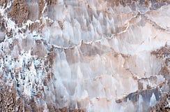 Natürliche Salzablagerung Stockfoto