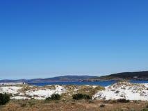 Natürliche Sanddünen Laxe - Nordküste Spanien Lizenzfreie Stockfotos