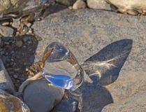 Natürliche Skulptur des Eises Stockbilder