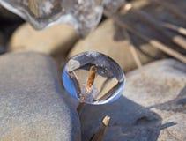 Natürliche Skulptur des Eises Stockbild