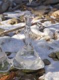 Natürliche Skulptur des Eises Lizenzfreies Stockbild