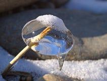 Natürliche Skulptur des Eises Lizenzfreie Stockfotografie