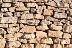 Natürliche Steinwand Stockbild