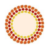 Natürliche Sunny Autumn Leaves Frame Background Vector-Illustration Lizenzfreie Stockbilder