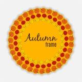Natürliche Sunny Autumn Leaves Frame Background Vector-Illustration Stockfotografie