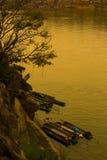 Natürliche Ufergegend in Thailand Stockbild