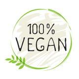 Natürliche wird gesunder organischer Bioaufkleber des Produktes 100 des strengen Vegetariers und Produkt der hohen Qualität deutl vektor abbildung