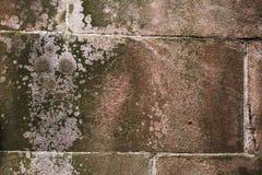 Natürliche Ziegelsteine des alten Schmutzes blockiert strukturierten Steinhintergrund Lizenzfreies Stockbild