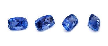 Natürlicher blauer Saphir Lizenzfreies Stockfoto