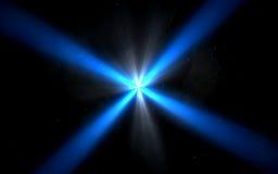 Natürlicher Blendenfleck des abstrakten Designs im Raum Rays Hintergrund Lizenzfreie Stockfotografie