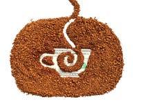 Natürlicher granulierter Kaffee stockfoto