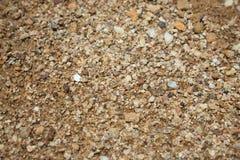 Natürlicher grober Sand Oberflächensandkornnahaufnahme lizenzfreie stockbilder