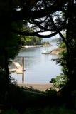 Natürlicher Hafen in den Butchart Gärten Stockbild