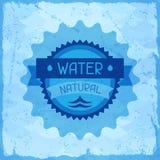 Natürlicher Hintergrund des Wassers im Retrostil lizenzfreie abbildung