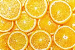 Natürlicher Hintergrund mit orange Scheibe Lizenzfreie Stockfotos