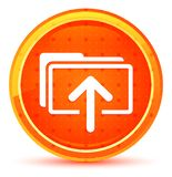 Natürlicher orange runder Knopf der Antriebskraftdatei-Ikone lizenzfreie abbildung