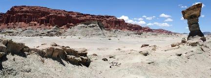 Natürlicher Park von Ischigualasto oder Vallede La Luna Lizenzfreie Stockfotografie