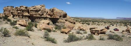 Natürlicher Park von Ischigualasto oder Vallede La Luna Lizenzfreie Stockbilder