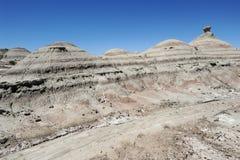 Natürlicher Park von Ischigualasto oder Vallede La Luna Stockfoto