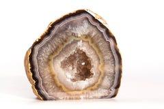 Natürlicher Quarz Crytal-Achat lokalisiert Lizenzfreies Stockbild