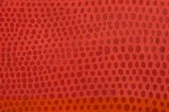 Natürlicher roter lederner Hintergrund Stockfoto