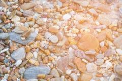Natürlicher runder Seefelsenabschluß herauf Muster Stockbilder