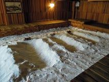 Natürlicher Salz-Badekurort Stockfotografie